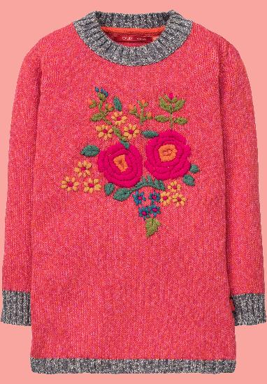 Kindermode Oilily Winter 2017/18 Oilily Kleid / Strickkleid Kakau wild rose red #271