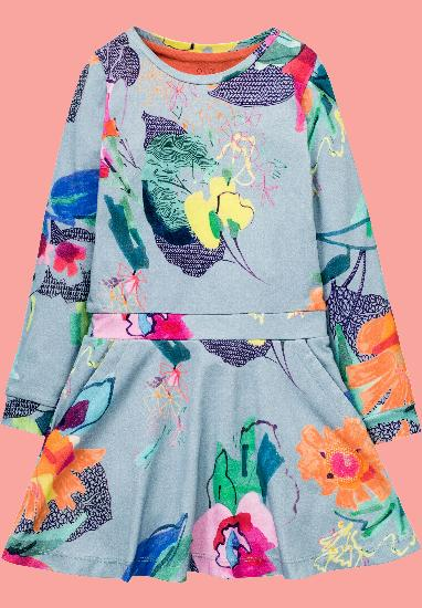 Kindermode Oilily Winter 2017/18 Oilily Kleid Toop bloom blue #288
