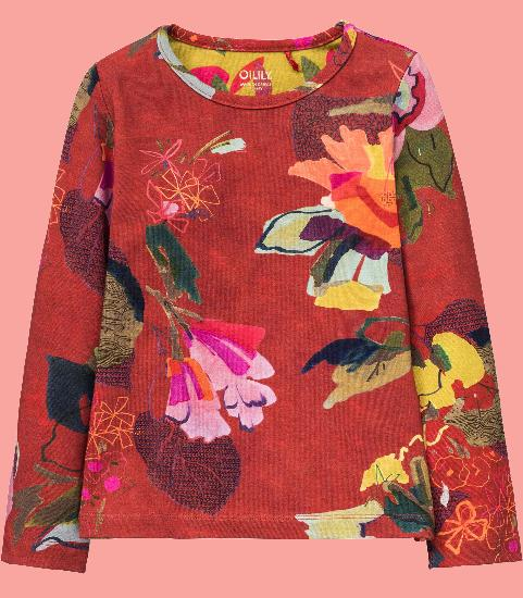 Kindermode Oilily Winter 2017/18 Oilily Shirt Tip bloom red #202