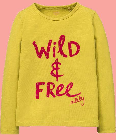 Kindermode Oilily Winter 2017/18 Oilily Shirt Tip wild and free yellow #204