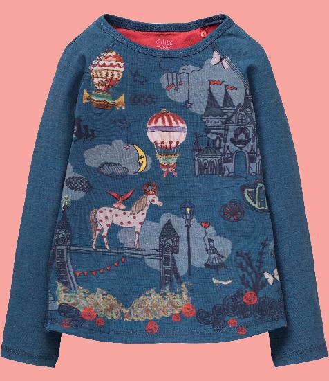 Kindermode Oilily Winter 2017/18 Oilily Shirt Tumble fairytale blue #217