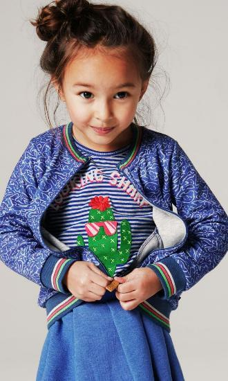 Kindermode Oilily Winter 2018/19 Oilily Shirt Tumble Looking Sharp stripe blue-grey #217