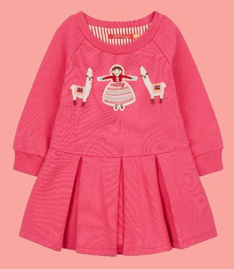 Kindermode Oilily Winter 2018/19 Oilily Kleid / Sweatkleid Hermosa pink #061
