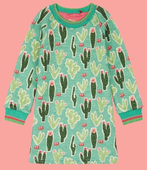 Kindermode Oilily Winter 2018/19 Oilily Kleid / Sweatkleid Hippel Cactus green #263