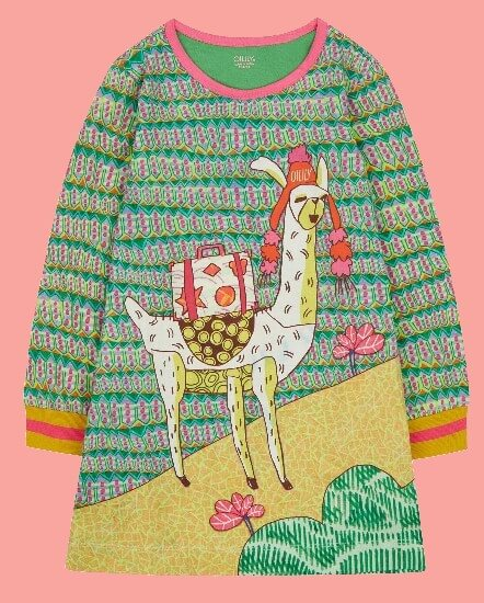 Kindermode Oilily Winter 2018/19 Oilily Kleid Thelama green Lama #285