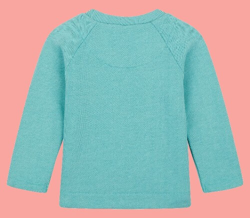 Kindermode Oilily Winter 2018/19 Oilily Pullover / Sweatshirt Hisabelle Lama melee green #003