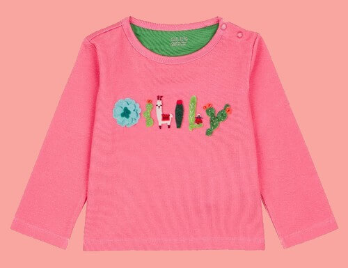 Kindermode Oilily Winter 2018/19 Oilily Shirt Tip pink Artwork #005