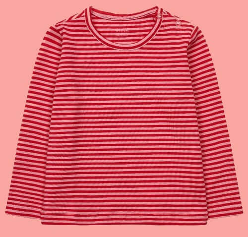 Kindermode Oilily Winter 2018/19 Oilily Shirt Tip stripe pink-red #006