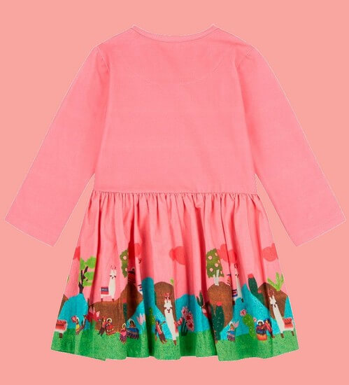 Kindermode Oilily Winter 2018/19 Oilily Kleid Dobra Lama Landpanel pink #006