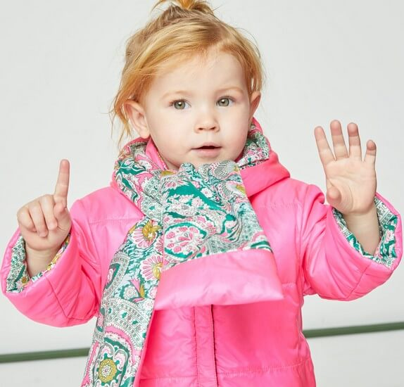 Kindermode Oilily Winter 2019/20 Oilily Winterjacke Cover reversible pink/green #005