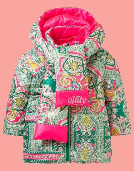 Oilily Winterjacke Cover reversible pink/green #005 von Oilily Winter 2019/20