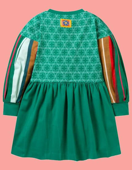 Kindermode Oilily Winter 2019/20 Oilily Kleid Traditie Duck green #083