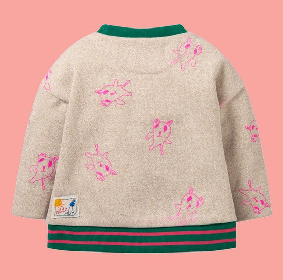 Kindermode Oilily Winter 2019/20 Oilily Pullover Habbit melee sand with gold glitter