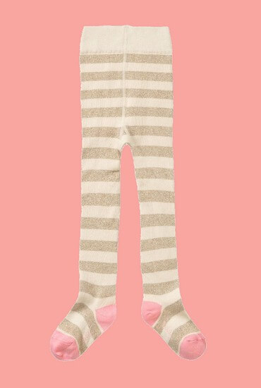 Kindermode Oilily Winter 2019/20 Oilily Strumpfhose Mehdi striped sand-gold #212
