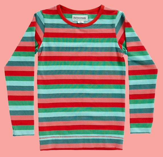 Kindermode Phister & Philina Sommer geringeltes Phister & Philina Shirt Lead #P0503