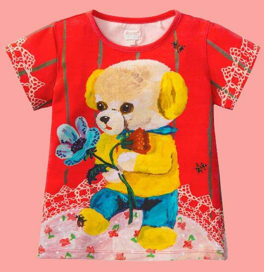 Room Seven T-Shirt Tins yellow Bear #E011 von Room Seven Sommer 2017