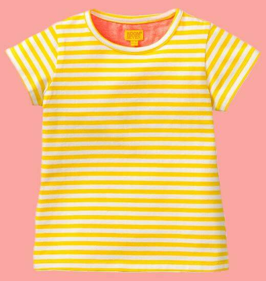 Kindermode Room Seven Sommer 2017 Room Seven T-Shirt Tins Stripes yellow #E014