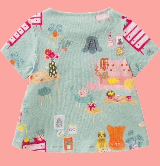 Kindermode Room Seven Sommer 2018 Room Seven T-Shirt Triana house light blue #E039