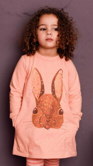 Kleid / Sweatkleid Henriette rabbit orange #014 - Room Seven Winter 2017/2018