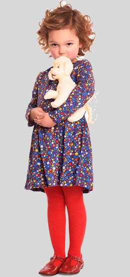 Kindermode Room Seven Winter 2017/18 Room Seven Kleid Dalia flower blue #007