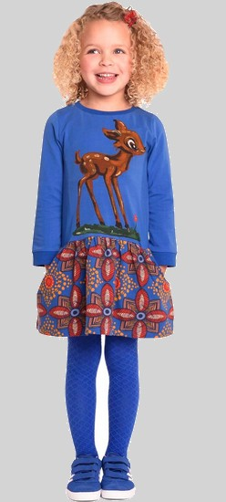 Kindermode Room Seven Winter 2017/18 Room Seven Kleid Tatty Bambi african print blue #023