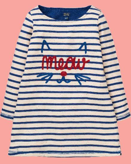 Kindermode Room Seven Winter 2017/18 Room Seven Kleid / Sweatkleid Hakia blue stripes #002