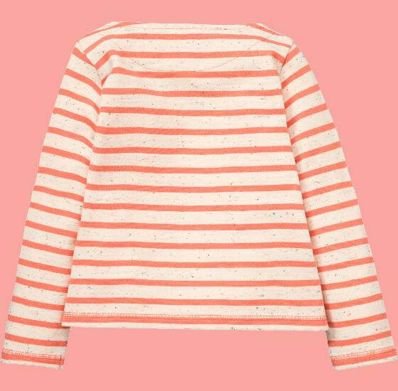 Kindermode Room Seven Winter 2017/18 Room Seven Shirt Hama Cool Girl orange stripes #005